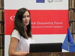 KEF (кастрычнiцкi эканамiчны форум), докладчик Дружинина Е.О.